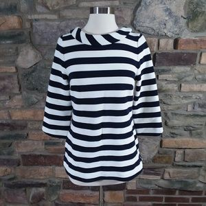 Boden Sarah Ponte stretch  striped top US 6